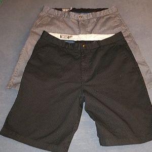 Volcom mens pinstripe shorts size 36 black/ grey